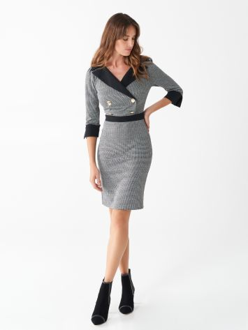 Sheath dress with houndstooth pattern Sheath dress with houndstooth pattern Rinascimento