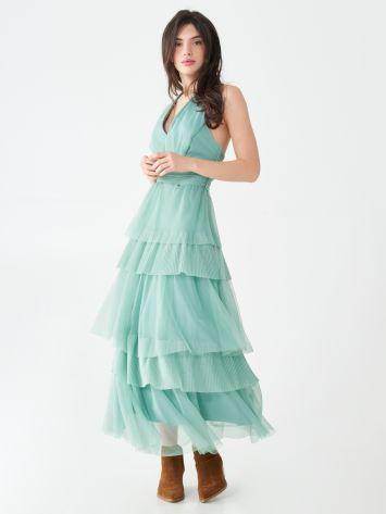 Langes Kleid mit Rüschen Langes Kleid mit Rüschen Rinascimento