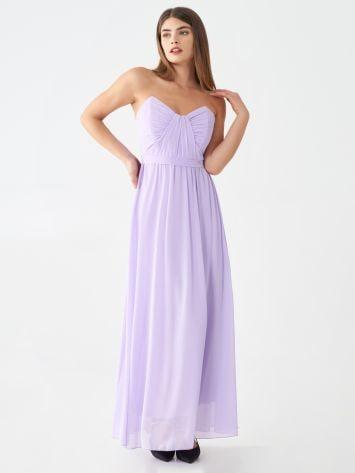 Vestido largo de georgette Vestido largo de georgette Rinascimento