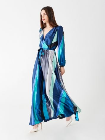Long multi-tone dress Long multi-tone dress Rinascimento