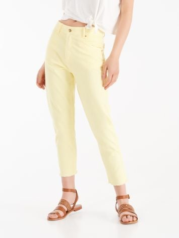 """Mom-fit"" trousers with fringe ""Mom-fit"" trousers with fringe Rinascimento"