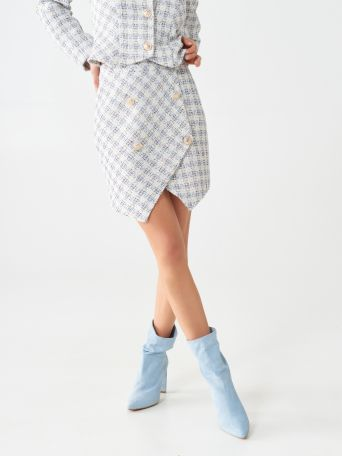 Tweed mini-skirt