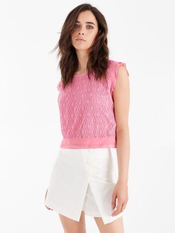 Crochet-effect blouse