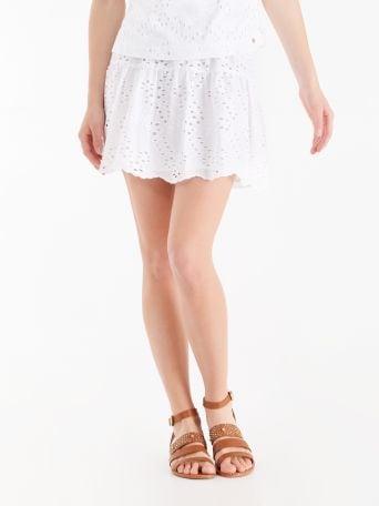 Sangallo lace frilled skirt