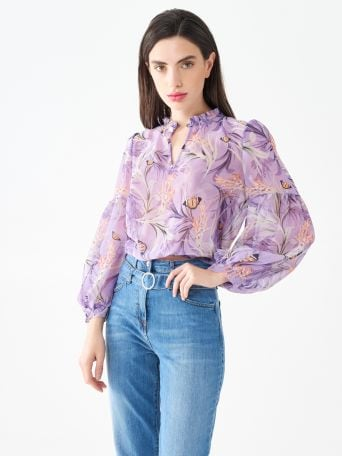 Georgette printed blouse