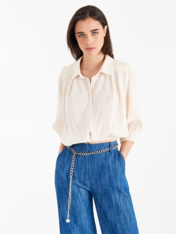 Shirt with shoulder straps