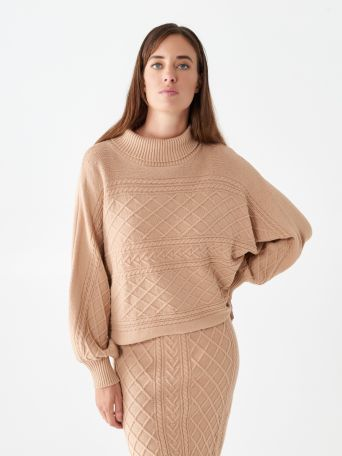 High-neck jumper