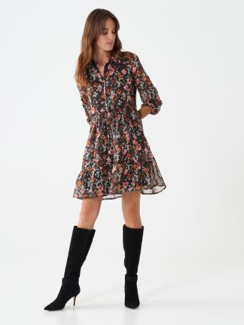 Short dress with Provencal print