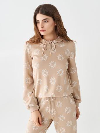 Monogram hooded sweatshirt