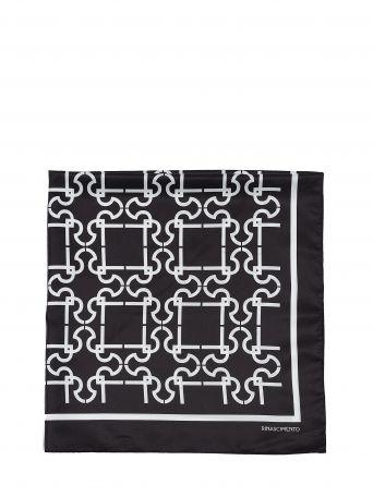 RR monogram scarf