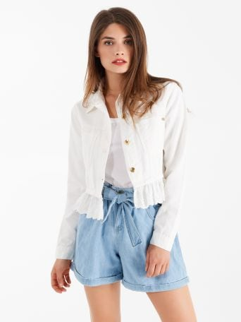 Sangallo Frill Denim Jacket