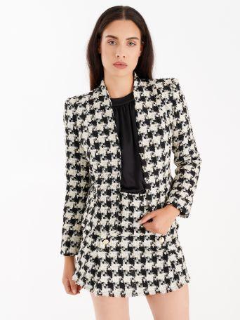 Matting jacket with lurex threads