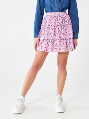 Minifalda de volantes
