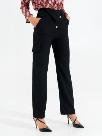 High-waisted Trousers with Buttons