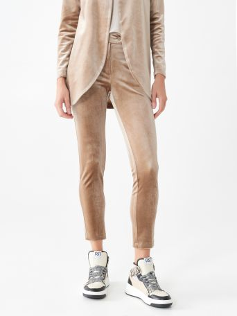 Velour cigarette pants