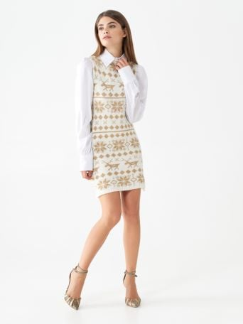Snowflake knit dress