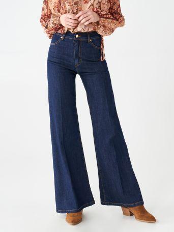 Jeans évasés taille haute